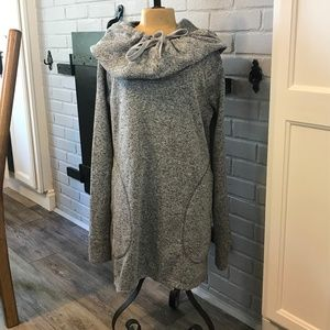 SOYBU Casual Long Sweat Shirt Dress With Pockets
